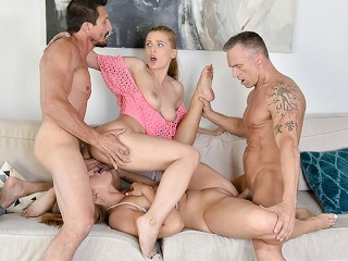 Oil threesome video